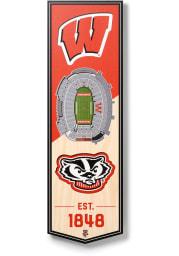 Wisconsin Badgers 6x19 inch 3D Stadium Banner
