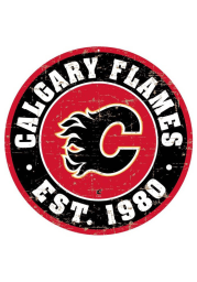 Calgary Flames Vintage Wall Sign