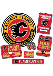 Calgary Flames Ultimate Fan Set Sign