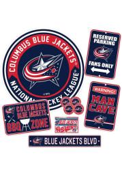 Columbus Blue Jackets Ultimate Fan Set Sign