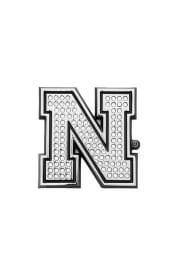 Nebraska Cornhuskers Crystal Car Emblem - Silver