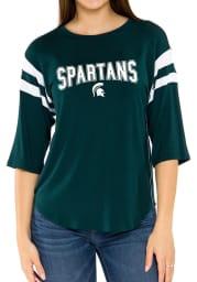 Michigan State Spartans Womens Green Abigail LS Tee
