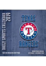 Texas Rangers 2019 Box Calendar