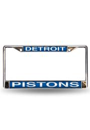Detroit Pistons Team Name Chrome License Frame