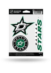 Dallas Stars 3pk Auto Decal - Green