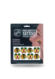 Chicago Blackhawks 8 Pack Peel Stick Tattoo