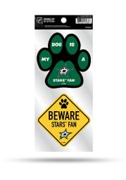 Dallas Stars 2-Piece Pet Themed Auto Decal - Green