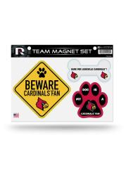 Louisville Cardinals 3-Piece Pet Themed Pet Magnet