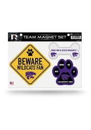 K-State Wildcats 3-Piece Pet Themed Pet Magnet