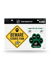 Dallas Stars 3-Piece Pet Themed Pet Magnet