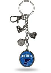 St Louis Blues Charm Keychain
