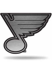 St Louis Blues Antique Nickel Car Emblem - Silver