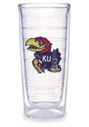 Kansas Jayhawks 16oz Lid Clear Tumbler