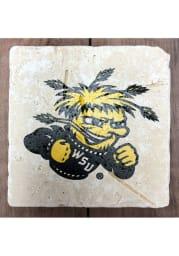 Wichita State Shockers Primary Logo 4x4 Coaster