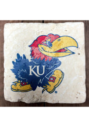Kansas Jayhawks Primary Logo 4x4 Coaster