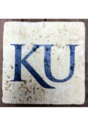 Kansas Jayhawks Secondary Logo 4x4 Coaster