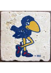 Kansas Jayhawks 1912 Logo 4x4 Coaster