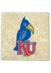 Kansas Jayhawks 1920 Logo 4x4 Coaster