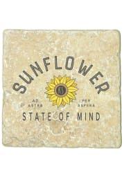 Kansas Sunflower State of Mind 4x4 Coaster