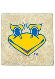 Kansas Jayhawks Beak Em logo 4x4 Coaster
