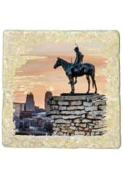 Kansas City Scout Statue 4x4 Coaster