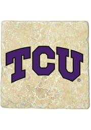 TCU Horned Frogs Logo 4x4 Coaster