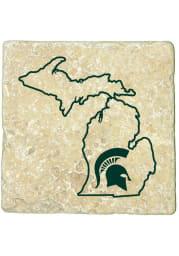 Michigan State Spartans State of Michigan 4x4 Coaster