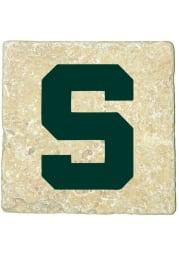 Michigan State Spartans Secondary Logo 4x4 Coaster