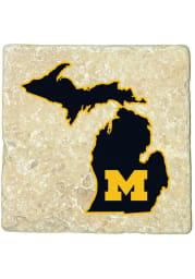 Michigan Wolverines State of Michigan 4x4 Coaster