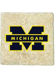 Michigan Wolverines Logo 4x4 Coaster