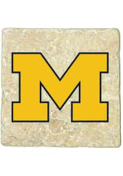 Michigan Wolverines Secondary Logo 4x4 Coaster