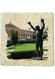 Philadelphia Rocky Statue 4x4 Coaster