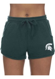 Michigan State Spartans Womens Green Sweater Shorts