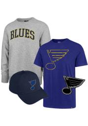 St Louis Blues Mens Grey Gift Pack Long Sleeve Crew Sweatshirt
