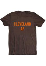 Emily Roggenburk Cleveland Heather Brown Cleveland AF Short Sleeve T-Shirt