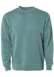 Cleveland Pine Green EST 1796 Long Sleeve Crew Sweatshirt