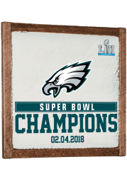 Philadelphia Eagles Super Bowl 52 Champions 27x27 Vintage Wall Wall Art
