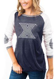 Gameday Couture Xavier Musketeers Womens Navy Blue Best In The Game LS Tee