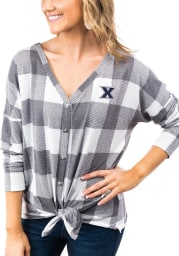 Gameday Couture Xavier Musketeers Womens Check Your Facts Long Sleeve White Dress Shirt