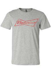 Budweiser St Louis Grey Logo Short Sleeve T Shirt