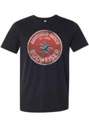 Budweiser St Louis Black Circle Logo Short Sleeve T Shirt