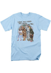 Wizard of Oz Womens Light Blue Lions And Tigers And Bears Short Sleeve T-Shirt