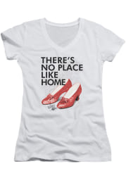 Wizard of Oz Womens White No Place Like Hom Short Sleeve T-Shirt