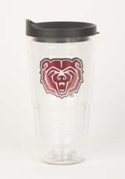 Missouri State Bears 24oz Lid Clear Tumbler