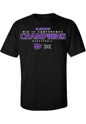 K-State Wildcats Black 2019 Big 12 Champions Short Sleeve T Shirt