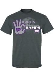 K-State Wildcats Charcoal 2019 Big 12 Champions Short Sleeve T Shirt
