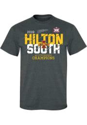 Iowa State Cyclones Charcoal 2019 Big 12 Tournament Champs Short Sleeve T Shirt