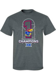 Kansas Jayhawks Charcoal 2019-2020 Big 12 Champions Short Sleeve T Shirt