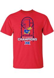 Kansas Jayhawks Red 2019-2020 Big 12 Champions Short Sleeve T Shirt