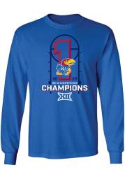 Kansas Jayhawks Blue 2019-2020 Big 12 Champions Long Sleeve T Shirt